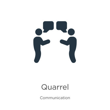 Quarrel icon vector. Trendy flat quarrel icon from communication collection isolated on white background. Vector illustration can be used for web and mobile graphic design, logo, eps10