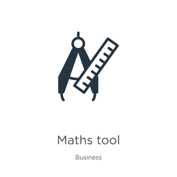 Maths tool icon vector. Trendy flat maths tool icon from business collection isolated on white background. Vector illustration can be used for web and mobile graphic design, logo, eps10