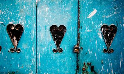 Door detail, Chefchaouen Morocco