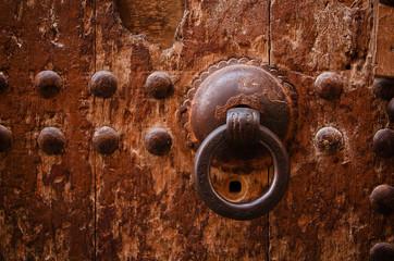 old door handle detail, Fes, Morocco