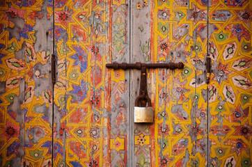 old wooden door handle, Marrakesh, Morocco