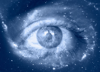 Wall Mural - Eye in the center of the galaxy with earth