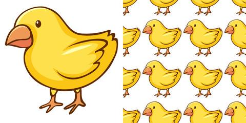 Zelfklevend Fotobehang Kids Seamless background design with little chicks