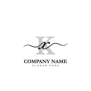 Initial XK logo luxury beauty template illustration