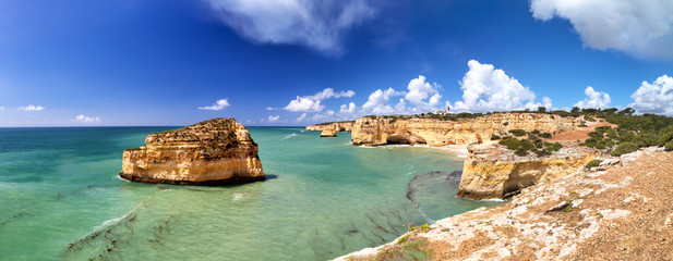 Fotorollo Küste Coastal landscape at the Algarve