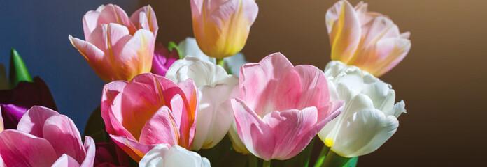 Poster Bloemen Fresh Tulip Bouquet