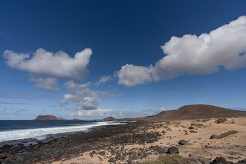 Vulkaninsel la Graciosa im Atlantik