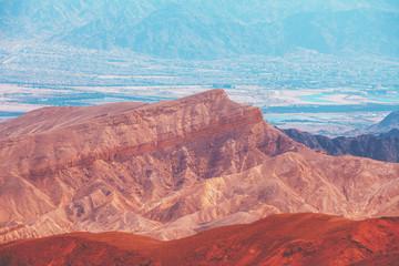 Fototapete - Beautiful mountain landscape. Mountain ridge background. Israel