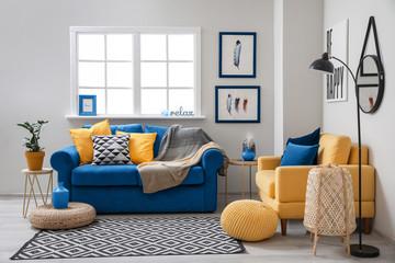 Wall Mural - Stylish interior of living room