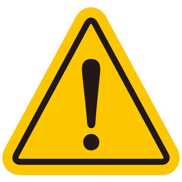 hazard sign icon vector triangle