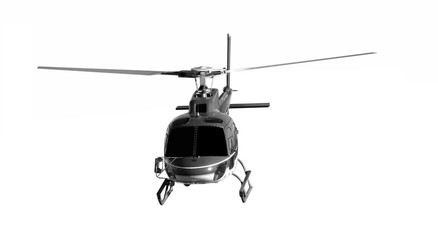 Foto op Canvas Helicopter Blue helicopter isolated on white