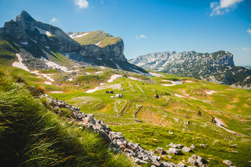 Wall Mural - Magical summer day in the Durmitor National park. Location Montenegro.