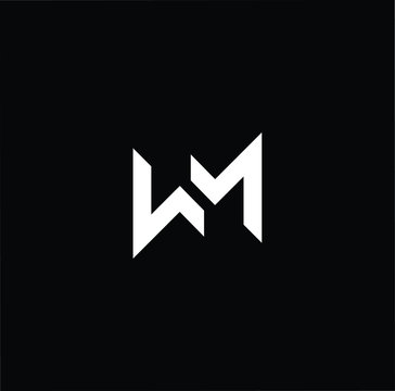 Initial based modern and minimal Logo. WM MW letter trendy fonts monogram icon symbol. Universal professional elegant luxury alphabet vector design