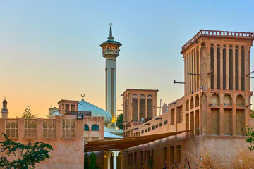 Printed roller blinds Dubai Al Fahidi Historical Neighbourhood in Dubai