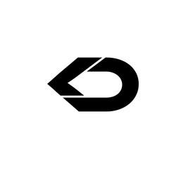 Fototapeta Initial 2 letter Logo Modern Simple Black LD obraz