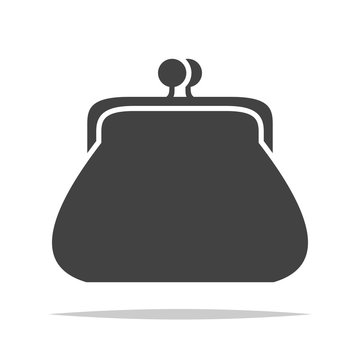 Coin purse wallet icon vector isolated