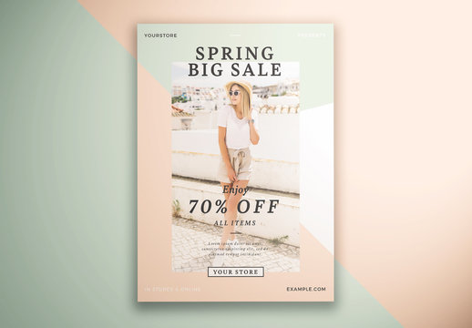 Spring Fashion Sale Flyer Layout