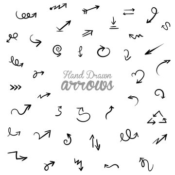 Hand drawn Vector Arrow Elements Set