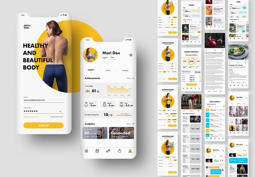 Ui Kit for Mobile Fitness App