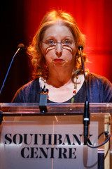 Author Hilary Mantel speaks during a presentation of her new novel The Mirror & the Light at the Royal Festival Hall in London