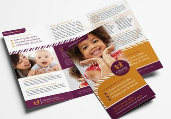 Trifold Brochure Layout for Non Profit Charities