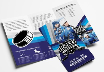 Trifold Brochure Layout for Hockey Clubs
