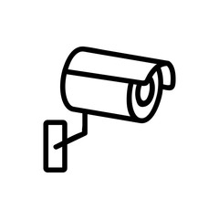Camera cctv icon vector. Thin line sign. Isolated contour symbol illustration
