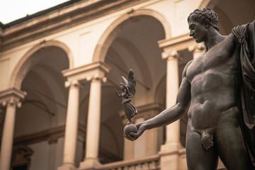 Statue of Napoleon as Mars, Pinacoteca di Brera, Milano Italy - fototapety na wymiar