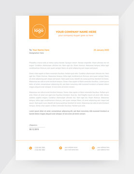 Business style letter head templates for your project design.
