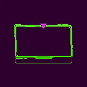 Stream panel template design - VECTOR