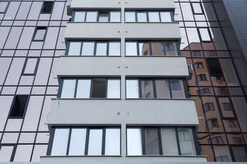 Fototapeta Modern facade of a multi storey building. obraz