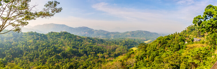 Wall Mural - Panoramic view at the nature near Kandy in Sri Lanka