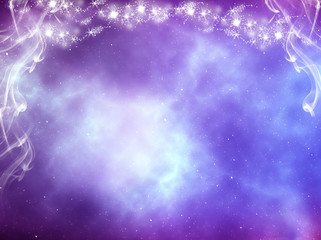 Wall Mural - purple blue violet abstract background with mystic light