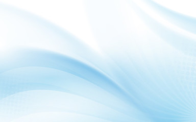 Wall Mural - Abstract blue wavy with blurred light curved lines background