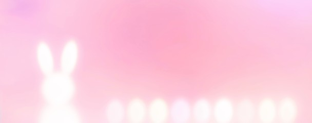 Abstract pastel easter background banner with bunny and easter eggs - easter background panorama with copy space