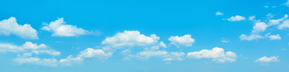 Fotorolgordijn Blauw Sky clouds banner background. Perfect skyline, blue sky with clouds