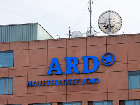 ARD Symbol At The Hauptstadtstudio, German For Capital Studio In Berlin, Germany