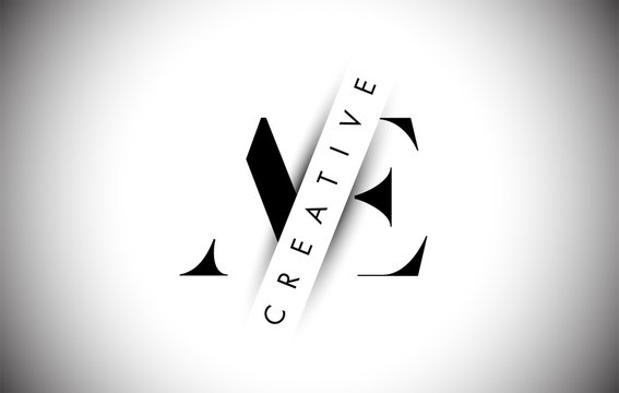 AE A E Letter Logo with Creative Shadow Cut and Overlayered Text Design.