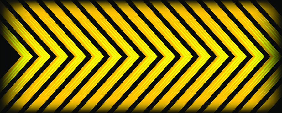 Abstract light yellow arrow shapes background