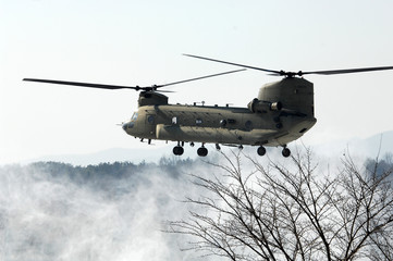United States Army Helicopter in Winter