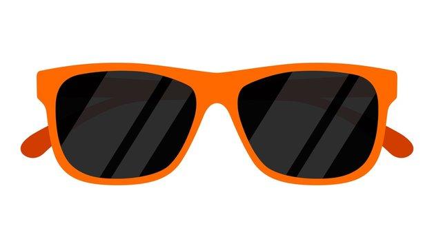 Sunglasses icon isolated on white background. Vector illustration