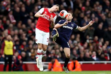 2020 Premier League Football Arsenal v West Ham Mar 7th