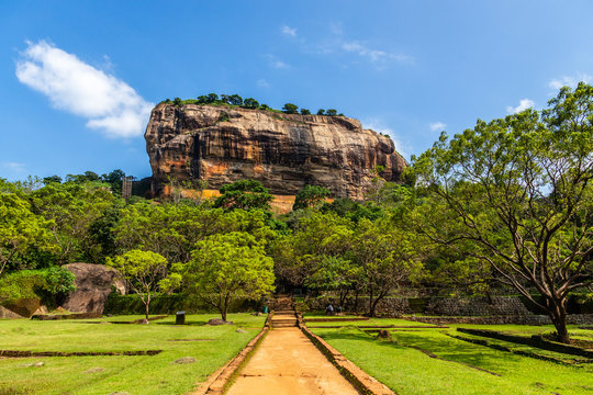 Sigiriya or Lion rock - ancient rock fortress, Dambulla, Central Province ,Sri Lanka