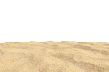 Wall Mural - Beach sand texture Di-cut, On white background