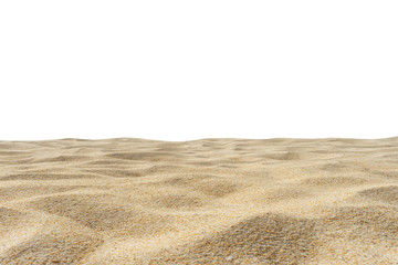 Wall Mural - Beach sand texture di cut isolated on white