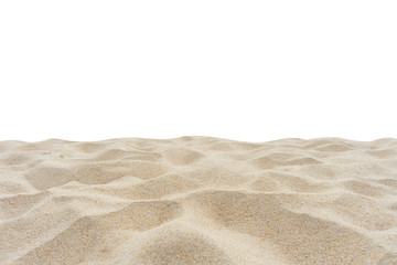 Wall Mural - beach sand isolated on white