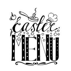Easter menu hand drawn lettering
