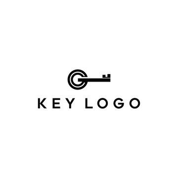 modern key vector logo design ,real estate brokerage concept illustration