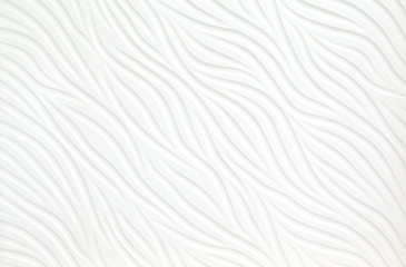 Close up abstract white Wavy texture