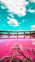 Photo sur Plexiglas Rose banbon Pink lake